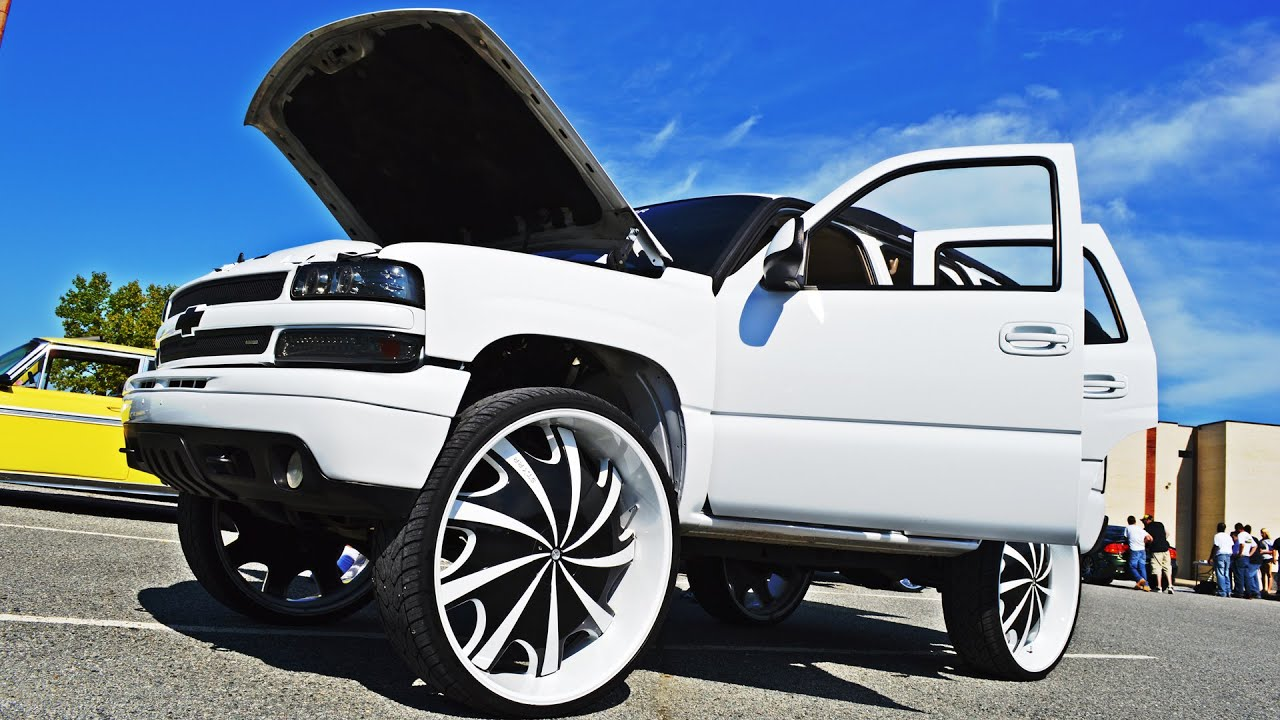 "2014 Chevy Tahoe >> 03 Tahoe on STARR 32""s - Heavy Rollerz Car Club - YouTube"