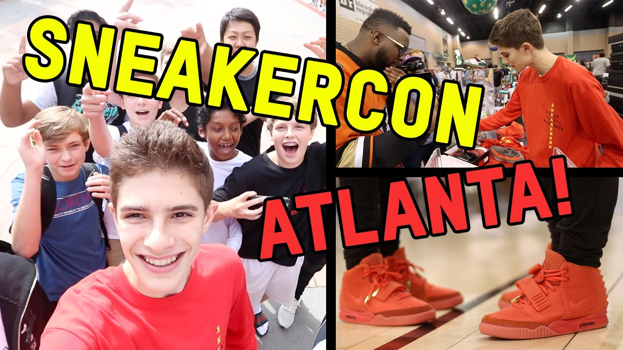 0a864be53adf9 WE ALL WORE RED OCTOBERS... AT ATLANTA SNEAKERCON!!! - YouTube