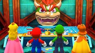 Mario Party The Top 100 - Minigames - Peach vs Mario vs Luigi vs Daisy