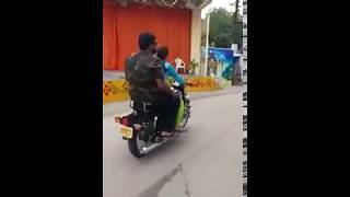 husband's bullet riding