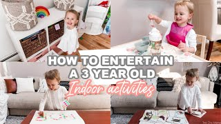 How To Entertain A 3 Year Old| Indoor Activities For Toddlers| Tres Chic Mama