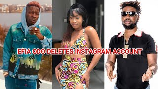 EFIA ODO GOES OFF INSTAGRAM AFTER ALLEGED SECRET 3S0ME WITH LATE JUNIOR US AND SHATTA WALE EXPOSED