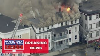 Multiple Building Fires & Explosions in Massachusetts - LIVE BREAKING NEWS COVERAGE