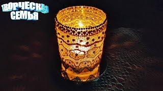 Подсвечник своими руками  из бокала, МК сделай сам✔️DIY Home Decor: Decorative Candle Holder