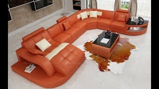 Modern sofa set designs for living room ! U shaped sofa designs 2020