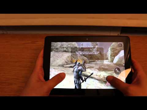 Gaming on Kindle Fire HDX 8.9