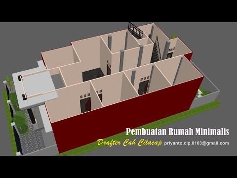 desain rumah minimalis modern 9x12 meter - youtube
