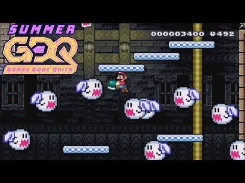 Super Mario Maker 3v3 Blind Level Team Race - SGDQ2018