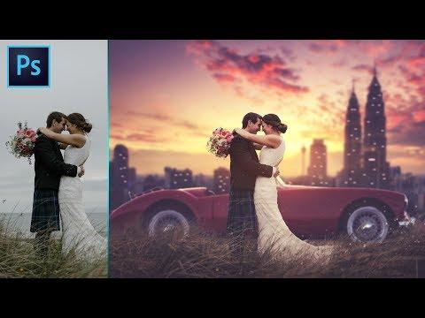Photoshop CC Tutorial: Wedding Photo Edit Manipulation : CAMERA RAW Filter