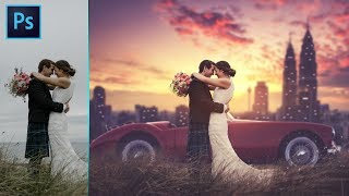 Photoshop CC Tutorial: Wedding Photo Edit Manipulation : CAMERA RAW Filter
