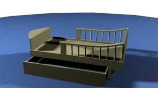 видео Детская кровать-корабль