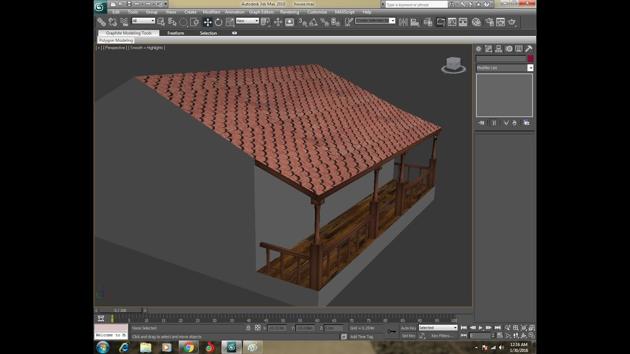 3ds max how to make simple house with textures youtube for Minimalist house 3d max
