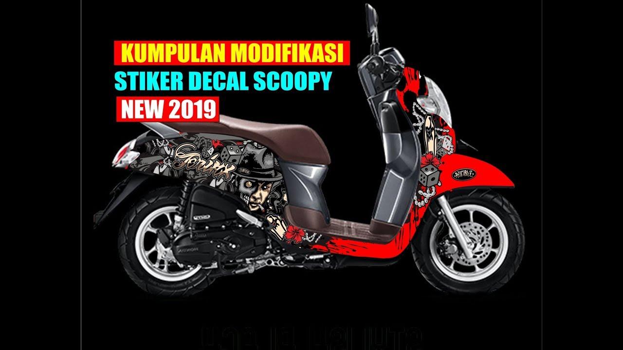 Kumpulan Modifikasi Stiker Decal Motor Honda Scoopy New Kereen Youtube