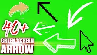 Green screen arrow (40+ green screen animation 4K + Free Download Link)