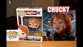 Hot Topic Exclusive CHUCKY ON CART FUNKO POP FIGURE review & unboxing! Child's Play 2