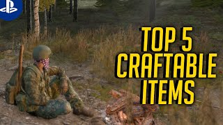 5 USEFUL THINGS TO CRAFT IN DAYZ PS4 (HOW TO CRAFT IN DAYZ PS4)