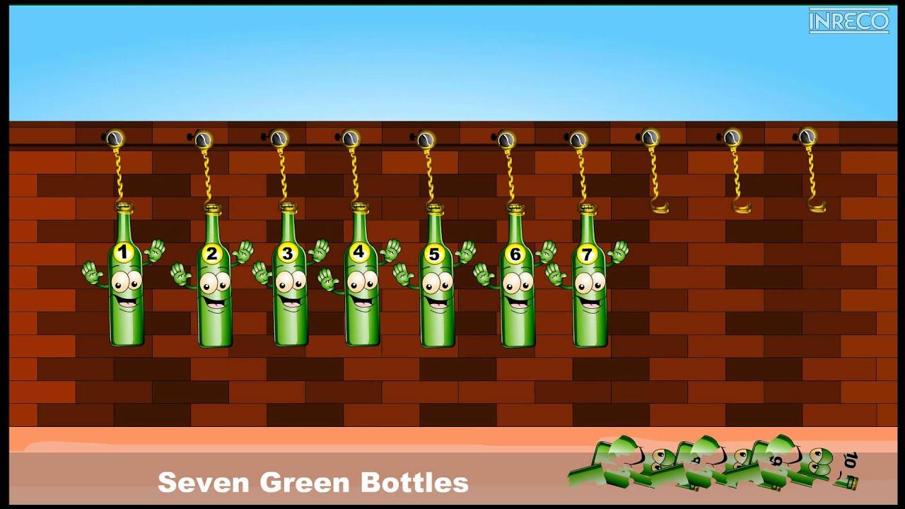 Nursery Rhymes Ten Green Bottles Sujatha English Children Song