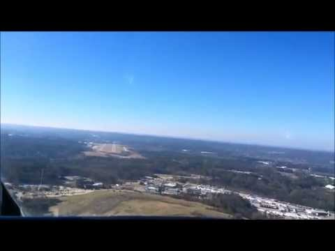 Twin Cessna 340 VFR flight over Atlanta January 2015.