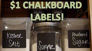 $1 Chalkboard Labels! | No Diy Needed!