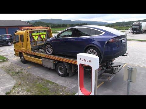 Tesla Model X P90DL shuts down with 14 km/8 mi range left