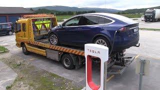 Tesla Model X P90DL shuts down with 14 km/8 mi range left thumbnail