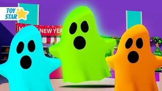 Dolly and Friends 3D | Knock Knock, Trick Or Treat | Nursery Rhymes and  Mystery Wheel Challenge