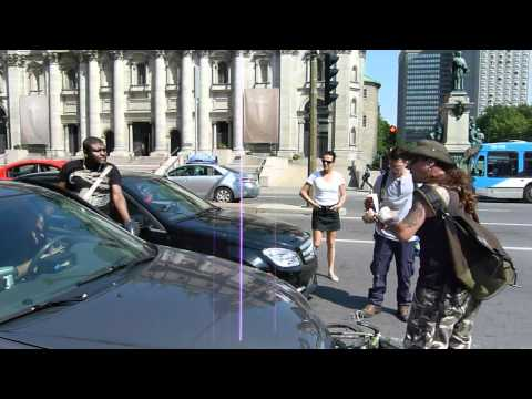 Taxi driver in Montreal vs Bike Messenger FIGHT!