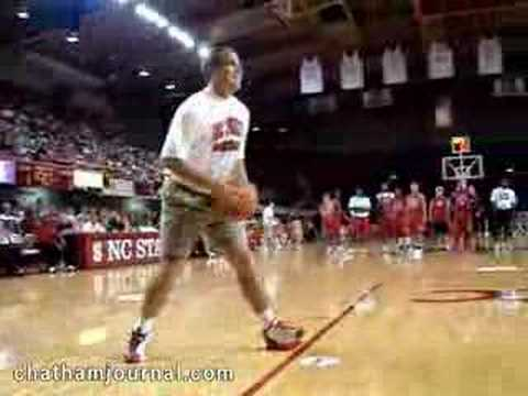 Chris Corchiani in Hot Shot Competition in Reynolds