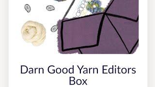 Darn Good Yarn Purple Editors Box