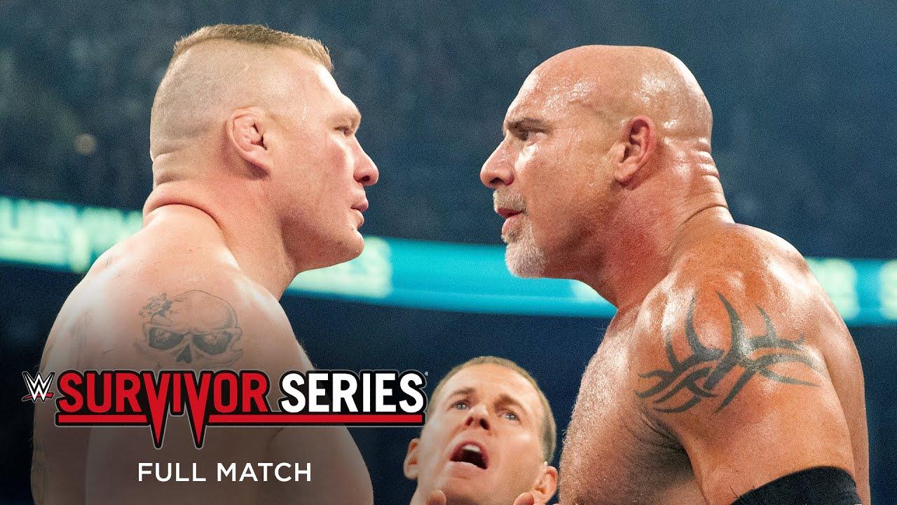 Download FULL MATCH: Goldberg vs. Brock Lesnar: Survivor Series 2016