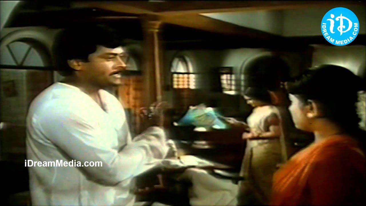 Chiranjeevi Gemini Ganesan Prasad Babu Nice Emotional: Chiranjeevi, Suchitra, Gemini Ganesan Nice Emotional Scene