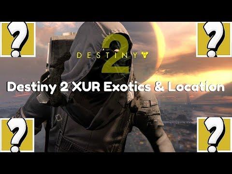 Destiny 2 XUR Exotics & Location | December 22,2017