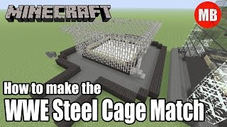 how to build the wwe steel cage match in minecraft