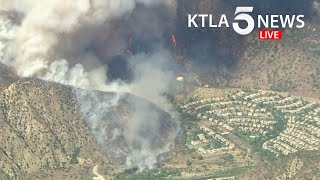 Ranch Fire continues to burn above Azusa