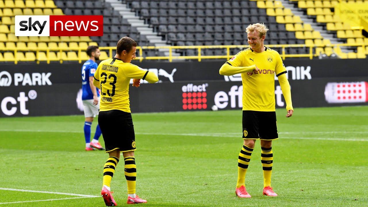 Coronavirus: Football returns to Germany behind closed doors