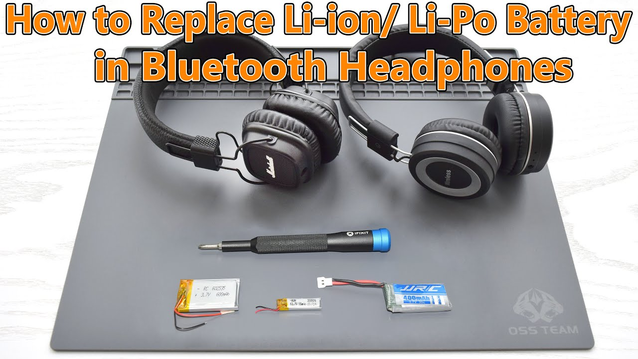 How To Replace Upgrade Li Ion Battery In Any Bluetooth Headphones Youtube