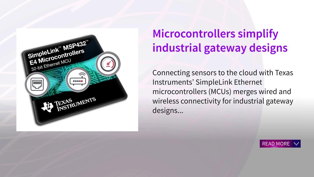 Microcontrollers simplify industrial gateway designs - November 2017 ...