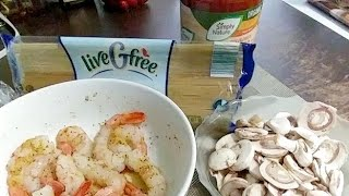 VERY DELICIOUS Shrimp with Spaghetti in Mushroom Sauce Wifie Edition