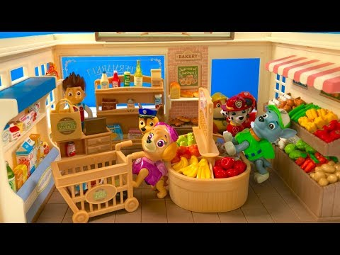 Thumbnail: Learn Names of Fruits Vegetables Food with Paw Patrol Supermarket | FIzzy Fun Toys