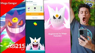 MY GREATEST EVOLUTION EVER - SHINY MEGA GENGAR in Pokémon GO! (Halloween Update)