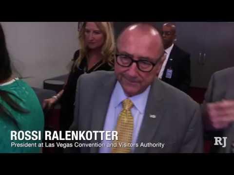 LVCVA CEO Rossi Ralenkotter avoids RJ reporter's questions