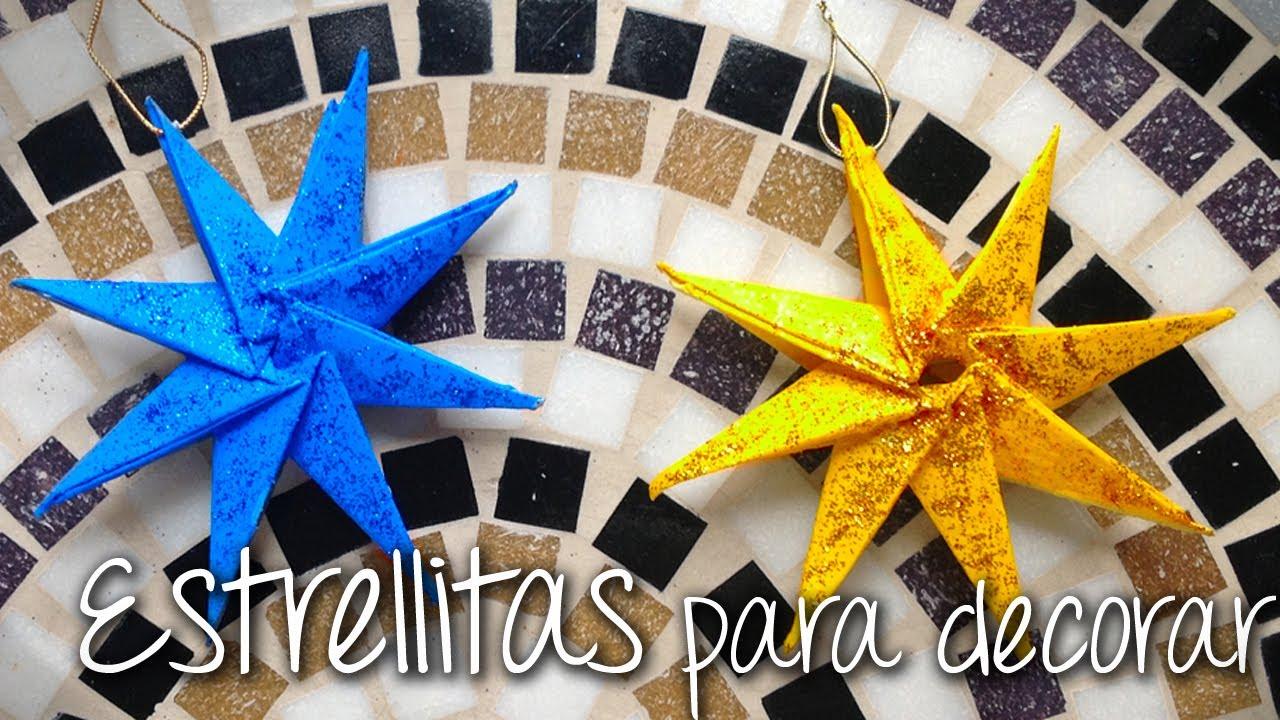 Estrellas de navidad de papel para decorar nuesto arbol de - Estrella para arbol de navidad ...