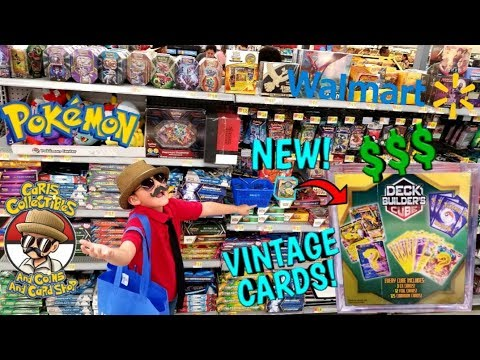 HUNTING The MOST EXPENSIVE POKEMON CARDS At Walmart! NEW MYSTERY DECK BUILDERS CUBE! VINTAGE SUPRISE