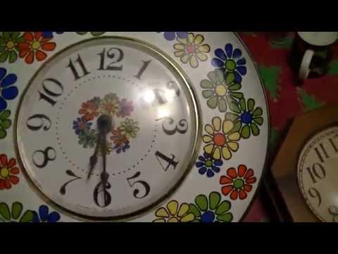 Two Rare Vintage 70s Wall Clocks