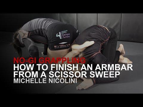 BJJ World Champion Michelle Nicolini's Armbar From A Scissor Sweep   Evolve University