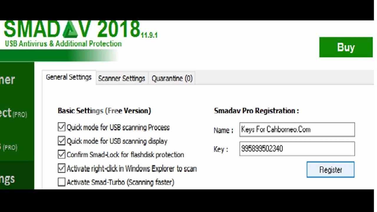 key smadav pro 2018 rev 11.9