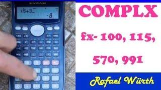 NUMERO COMPLEJO EN CASIO FX 100, 115, 570 Y 991 MS