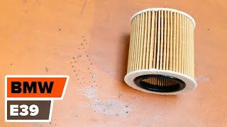Como trocar óleo do motor e filtro de óleo BMW 5 E39 TUTORIAL | AUTODOC