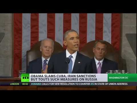 Obama slams Cuba, Iran sanctions, touts such measures on Russia