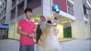 Scrat visits the winners of Caltex Ice Age 4 Lucky Draw